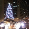 Chicago at night during Christmas