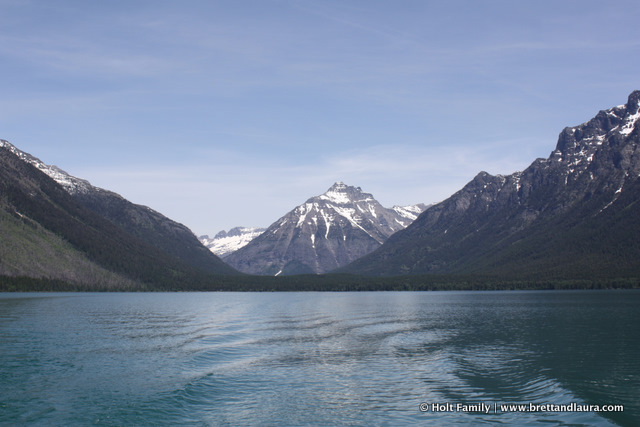 Boat ride along Lake McDonald