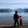 Ethan and Autumn at Lake McDonald