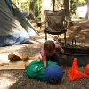Playing at the campground