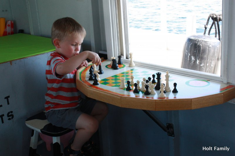 Chess and many other games on board